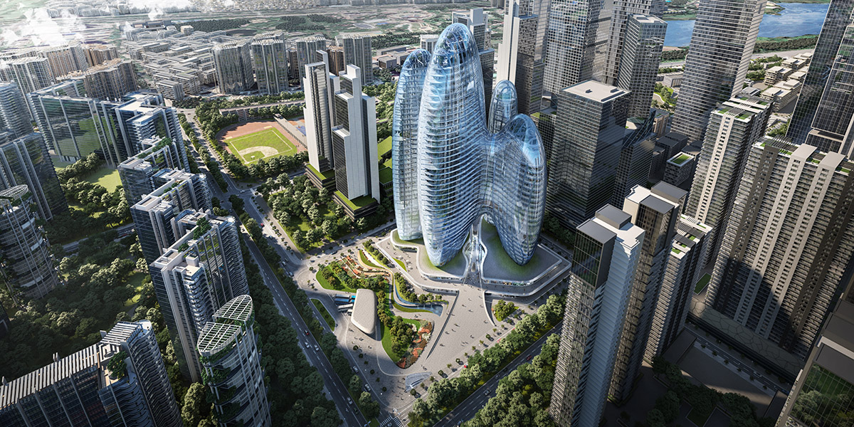 Zaha Hadid Architects releases its design for rounded and interconnected towers for OPPO in Shenzhen